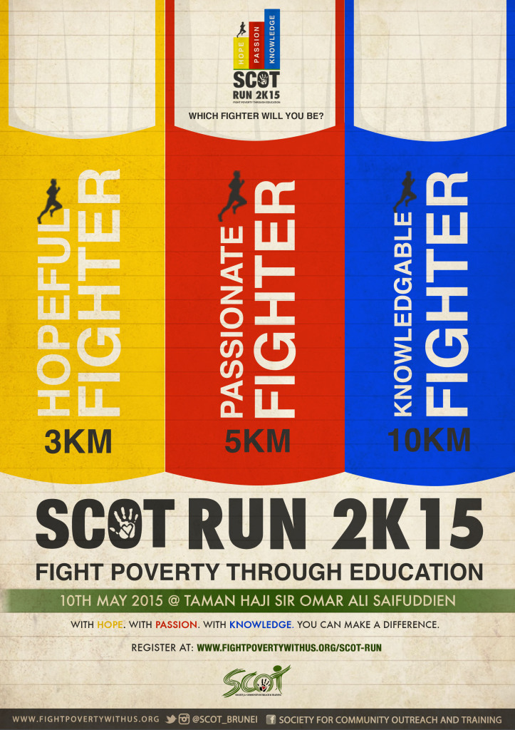 which fighter will you be? Fight Poverty with Us through education! REGISTER NOW!
